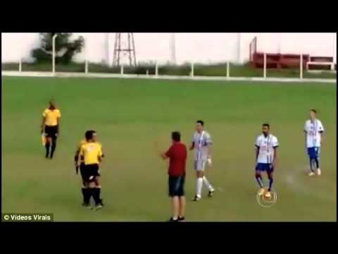 Referee Pulls Out A GUN Instead of a Red Card - Brazilian Football Match
