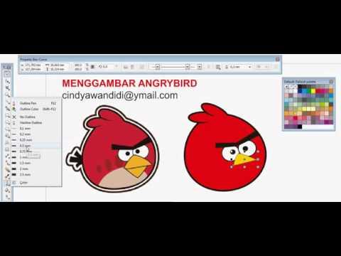 Menggambar Angry Bird dengan CorelDraw X5