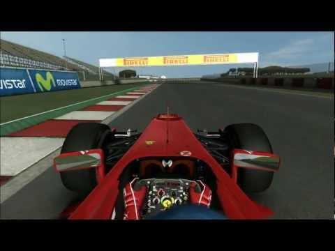 rFactor F1 2012 - Round 05, Espanha Onboard Fernando Alonso | Leonardo Lopes [F1 Brazuca]