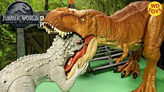 New Jurassic World Super Colossal Tyrannosaurus Rex Unboxing T-Rex Fallen Kingdom Mattel  Vs Hasbro