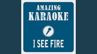 Clara Oaks I See Fire Karaoke Version Originally Performed By Ed