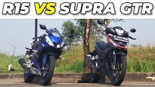 (3.26 MB) DRAG RACE!!!  ALL NEW R15 VS SUPRA GTR150  - Siapa yang menang ?? Mp3