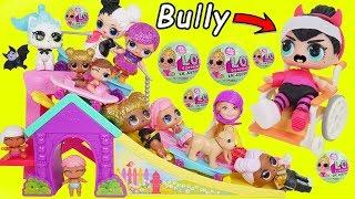 LOL Surprise Dolls Lil Sisters at Barbie Skateboard Park