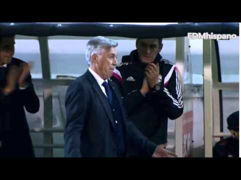 Carlo Ancelotti Imitates Cristiano Ronaldo Celebration vs Eibar 2014