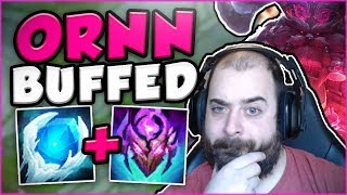 ARE THESE NEW ORNN BUFFS ENOUGH TO CARRY?! NEW BUFFED ORNN TOP GAMEPLAY! - League of Legends