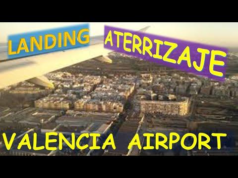 ESPECTACULAR Aterrizaje en el aeropuerto de Manises Valencia España