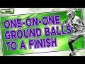 Lacrosse Drills: One-on-One Ground Balls to a Finish