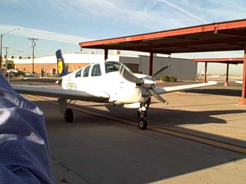 A Lufthansa Bonanza pulling in at the Airline Training Center, Arizona