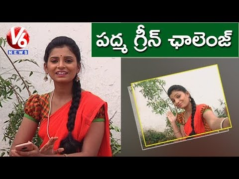 Padma Plants Saplings To Promote Green Challenge | Teenmaar News | V6 News