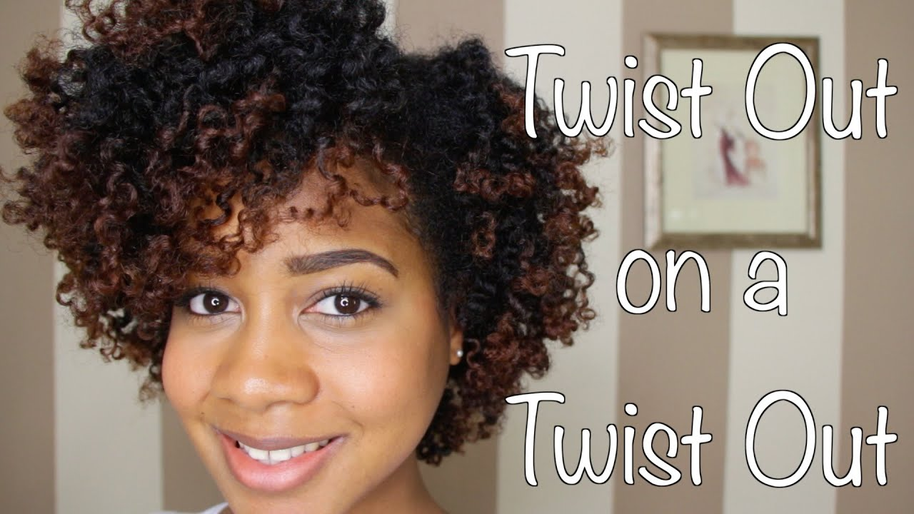 A Quot Twist Out On A Twist Out Quot Natural Hair Tutorial Youtube