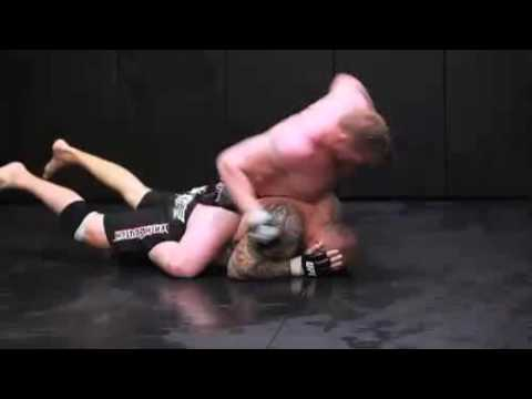 Brock Lesnar Training for UFC 100 - Grappling/Submissions/Striking Image 1