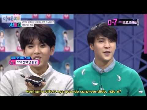 [PT-BR/CUT] 140314 Super Idol Chart Show - Ligação Kai |King of Dance|