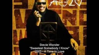 Watch Stevie Wonder Sweetest Somebody I Know video