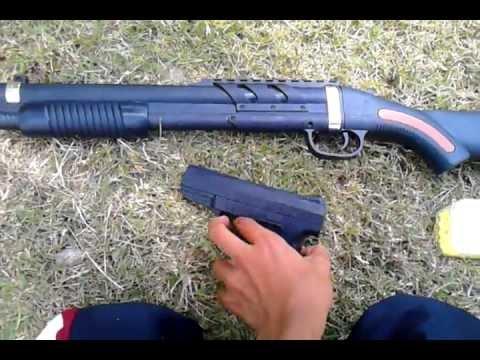 pistolas de balines de plástico
