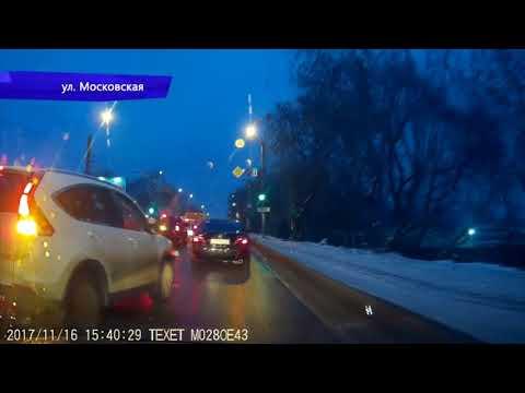 Видеорегистратор. Инфинити сбил женщину на ул. Попова. Место происшествия 21.11.2017