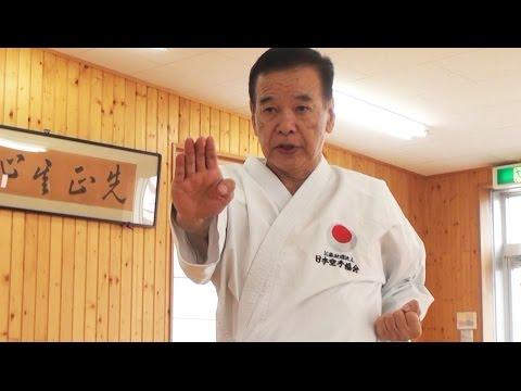 生涯武道、植木政明師範。75歳の空手。Karate Master Ueki Shihan, 75 years old.