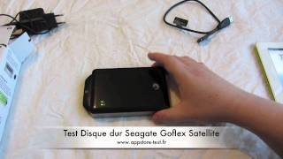 Test Disque dur Seagate Satellite GoFlex