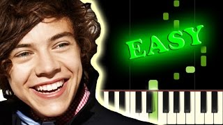 One Direction What Makes You Beautiful Easy Piano Tutorial