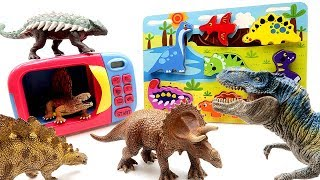 Learn Dinosaurs With Wooden Puzzle | Jurassic World2 Fallen Kingdom, Schleich Toys Transforming Dino