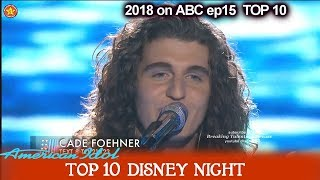 "Cade Foehner sings ""Kiss the Girl"" Katy is JEALOUS   Disney Night  American Idol 2018 Top 10"