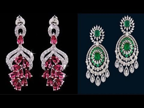 Latest Light Weight CZ Earring Designs - She Fashion