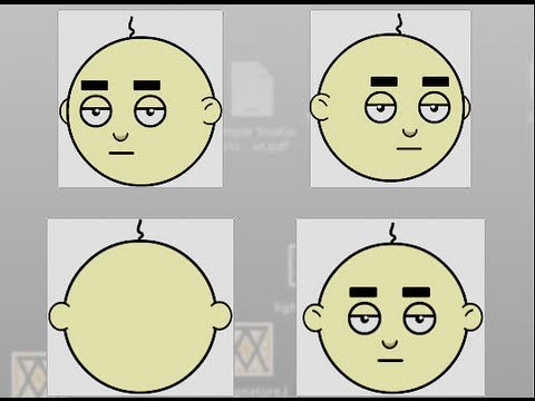 Flash Animation Tutorial | How to create a head turn for cartoon characters