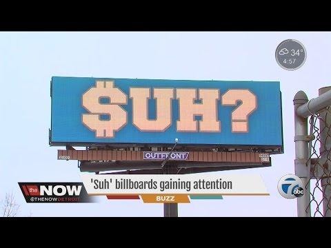 """Suh"" billboard gaining attention"