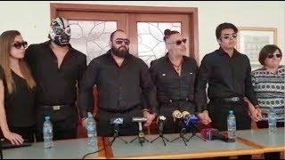 Familia de Silver King en conferencia de prensa, Gayosso de Torreón Coahuila