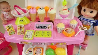 Baby Doli and food shop Ice cream toys baby doll play