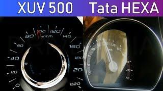 Mahindra XUV500 vs Tata HEXA | 0-100 Speed test | Acceleration