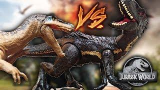 INDORAPTOR VS BARYONYX   Review y comparación Jurassic World 2 Mattel figuras