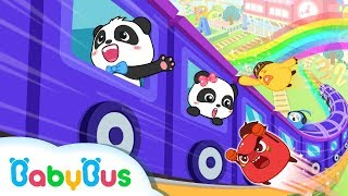 Baby Panda Takes Flying Train | Math Kingdom Adventure 5-8 | BabyBus