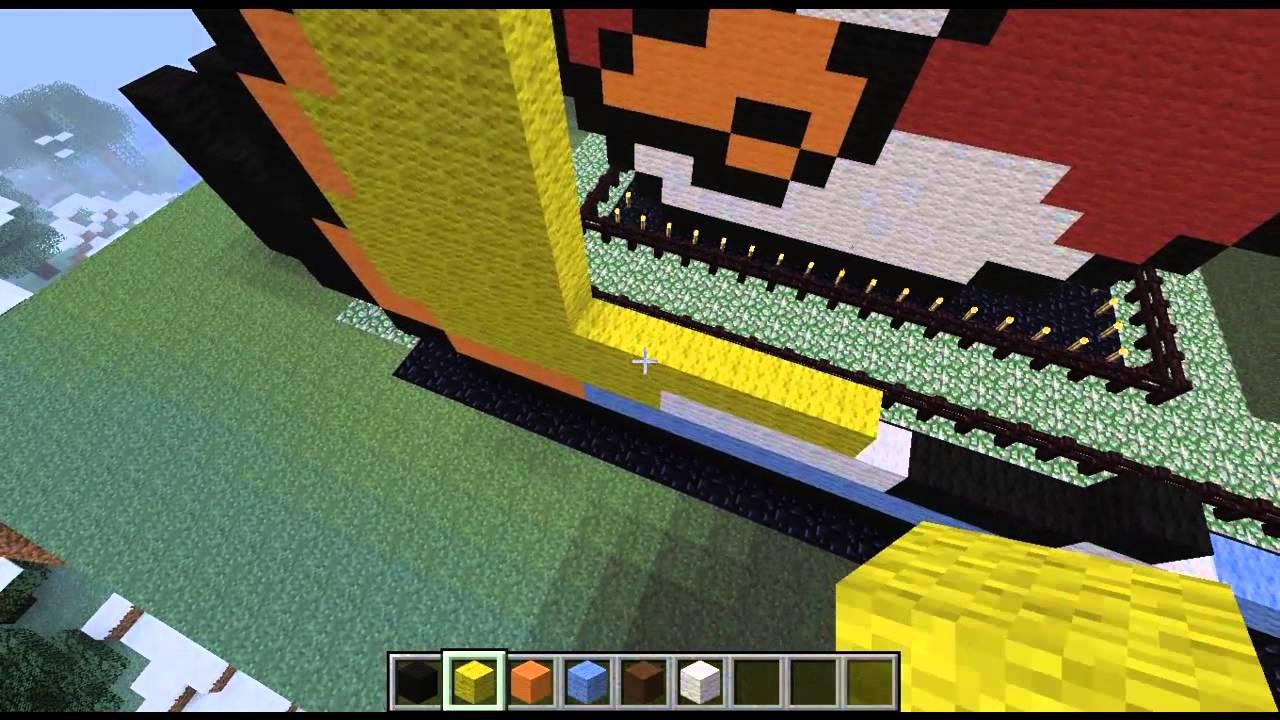 MINECRAFT-как построить жолтую птицу из (Angry Birds)!! - YouTube