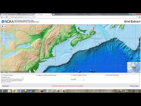 Download Bathymetry and Project