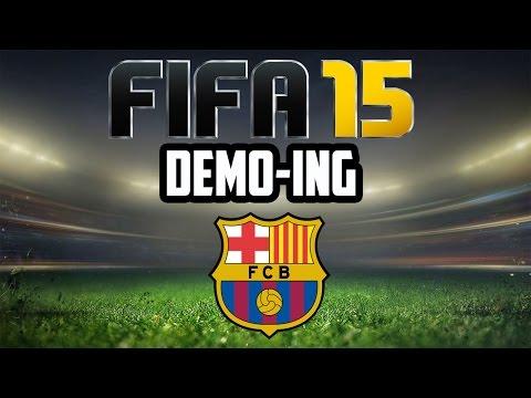 FIFA 15 Demo-ing Barcelona - Dani Alves Screamer + Adrian Ramos Backheel Goal!!