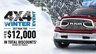 Kingston Dodge 4x4 Winter Event Promotions and Specials: Get up to $12,000 in total discounts