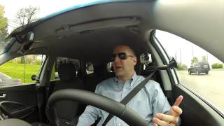 Driving Review - 2013 Hyundai Santa FE GLS - 7 Passenger SUV Test Drive - Video Review