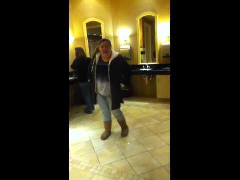 Girl Dancing In Bathroom