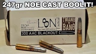 247gr NOE Cast Boolit! Handloaded 300 AAC BLACKOUT