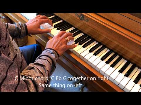 C Minor Chord Progression (1-4-5-1) on an actual piano.