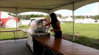 Special Event Rentals - Setting up the Servus Heritage Festival