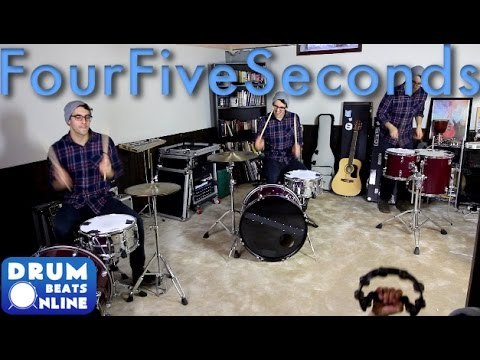 FourFiveSeconds Drum Cover - Rihanna/KanyeWest | Drum Beats Online