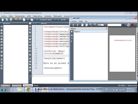 Descarga e Instalación de LaTeX