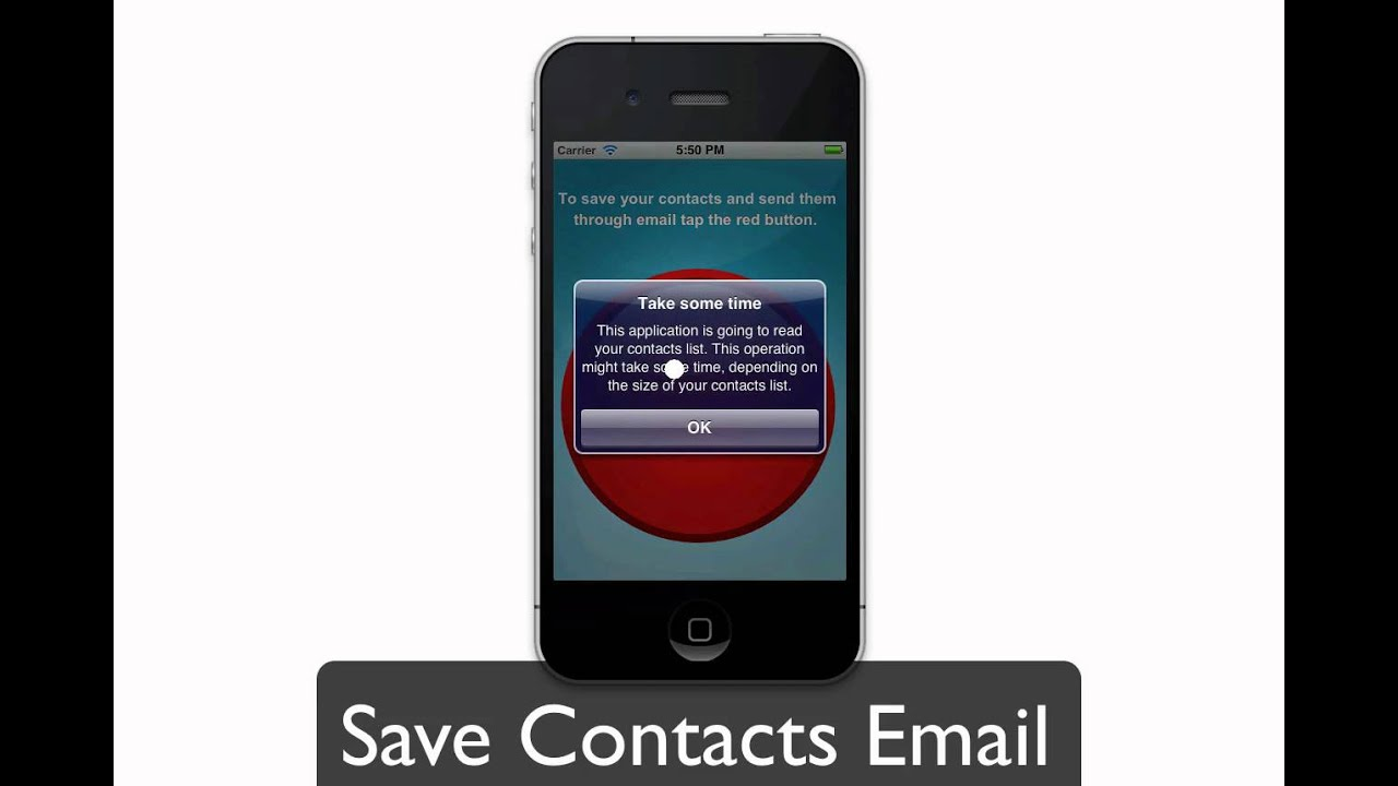 how to move contacts from email to iphone