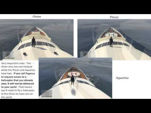 GTA V Online Yacht Comparisons