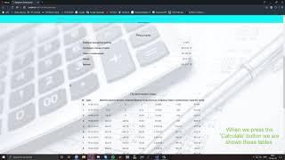 Finance Calculator [ASP.NET (C#)]
