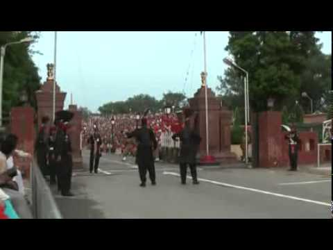 Pakistan Lahore Wagah Border Ceremony 23 March Youtube video