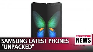 Samsung Electronics showcases its most daring smartphone line-up yet, revealing first foldable phone