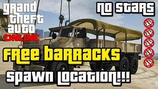 GTA 5 Online: Barracks Military Truck Spawn Location - Free Army Truck (GTA V)