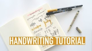 Bullet Journal HANDWRITING Tutorial | Brush Lettering and Cursive Tips For Beginners